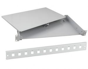 """LWL 19"""" Spleißbox, unbestückt, mit 12-fach SC-simplex Blende"""