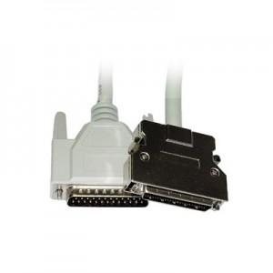 SCSI II Kabel, 50-pol. HP Sub-D Stecker / 25-pol. Sub-D Stecker, UL2990, vergossen, 1,8 m