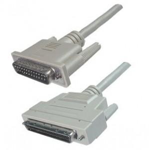 SCSI III Kabel, 68-pol. HP Sub-D Stecker / 25-pol. Sub-D Stecker, vergossen, 1 m