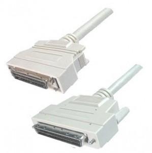 SCSI III Kabel, 68-pol. HP Sub-D Stecker / 50-pol. HP Sub-D Stecker, mit aktiver Terminierung, 2 m