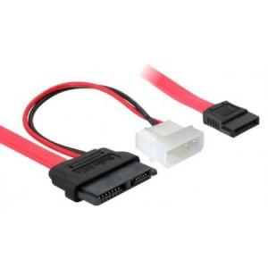 SATA Slimline Adapter, S-ATA Slim 7 + 6 pol. Stecker an 4-pol. Molex Stecker uns S-ATA 7-pol Stecker