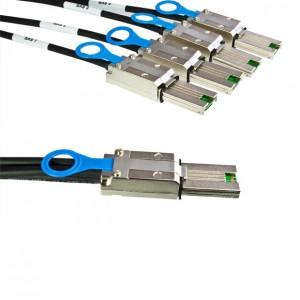 externes SAS Kabel, ext. mini SAS Stecker (SFF-8088) auf 4 x ext. mini SAS Stecker (SFF-8088), 2 m