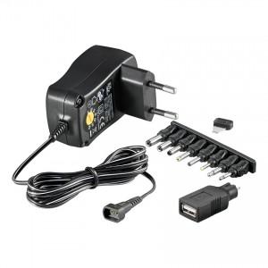 Universalsteckernetzteil, 3 - 12 Volt, 1000 mA, mit sieben verschiedenen Adaptersteckern