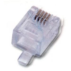 Modularstecker 6P/4C (RJ11), ungeschirmt, für Flachbandkabel