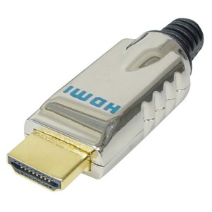 HDMI Stecker 19pol, Vollmetall, Lötversion