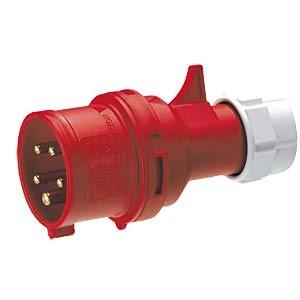 CEE-Stecker, 400V, 16A, rot, 5-polig, IP44
