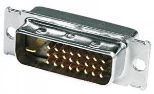 DVI Stecker, 24+5 Kontakte, ohne Haube