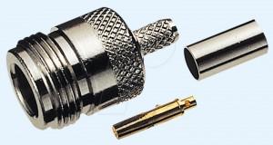 N-Buchse für RG 58 Kabel, Crimpversion