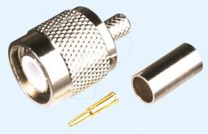 TNC-Stecker für RG 58 Kabel, Crimpversion