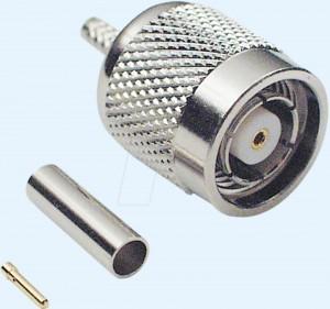 TNC-Reverse Stecker für RG 58 Kabel, Crimpversion
