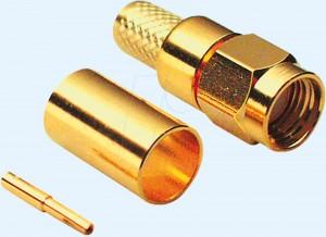 SMA-Reverse Stecker für RG 58 Kabel, Crimpversion