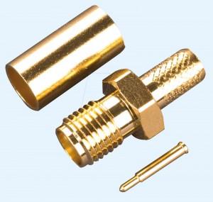 SMA-Reverse Buchse für RG 58 Kabel, Crimpversion