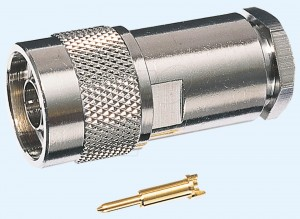 N-Stecker für RG 213 Kabel, Lötversion