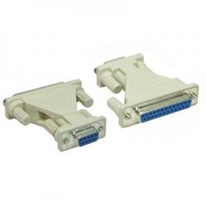 AT-Adapter, 9-pol. Sub-D Buchse / 25-pol. Sub-D Buchse