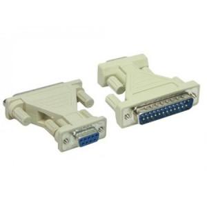 AT-Adapter, 9-pol. Sub-D Buchse / 25-pol. Sub-D Stecker, mit kurzem Kabel
