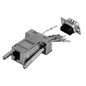 Modular Adapter, 9-pol. Sub-D Stecker/RJ45 Buchse, geschirmt, metallisiertes Gehäuse