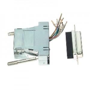 Modular Adapter, 25-pol. Sub-D Stecker/RJ45 Buchse, geschirmt, metallisiertes Gehäuse