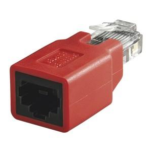 Cross-over Adapter Cat. 5e, RJ45 Buchse/Stecker zum Adaptieren eines 1:1 Patchkabel als Crossoverkabel