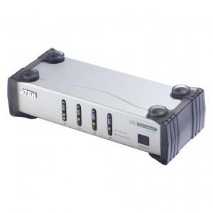 DVI/Audio Switch, 4 Port, Infrarot Fernbedienung, externes Netzteil