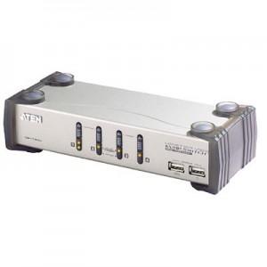 USB + Audio CPU Umschalter, 4-fach, automatisch,