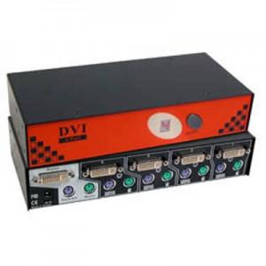 CPU Umschalter, DVI + PS2, automatisch für 4 PC's,