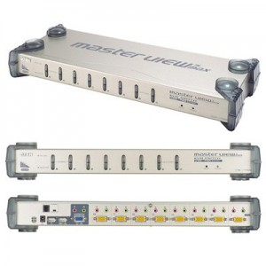 Doppelfunktions KVM Switch, VGA, Audio, USB oder PS2