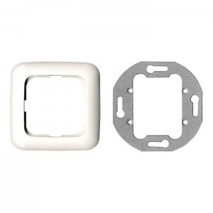 Multimedia Anschlussdose, Einfachdose für 2 Module