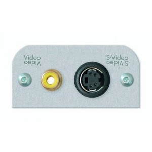 Multimedia Video Kombi Modul, 1 x 4-pol. Mini-DIN Buchse / 1 x Cinchbuchse, mit 30 cm Anschlusskabel