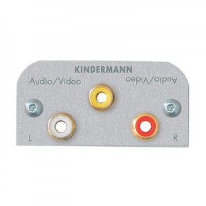 Multimedia Audio/Video Modul, 1 x Cinch Buchse für Video, 2 x Cinch Buchse für Audio, mit Kabel