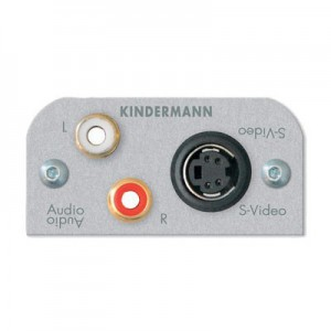 Multimedia Audio/Video Modul, 1 x 4-pol. Mini-DIN Buchse für Video,  2 x Cinch Buchse für Audio, mit Kabel