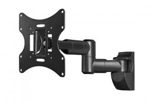 TFT Display, Schwenkarm Wandmontage, drehbar um 180° zweifach schwenkbarer Arm, Vesa 75 + 100, bis max. 15kg