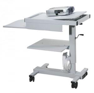 Projektionstisch, stufenlos höhenverstellbar von 89 bis 115 cm, Maße: 115 x 45 x 69 cm