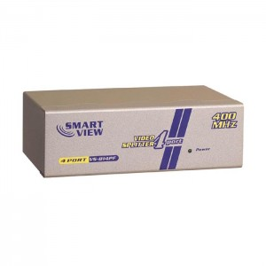 Monitorsplitter, bis 400 MHz, 1 Eingang / 4 Ausgänge