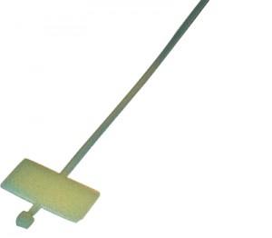 Kabelbinder mit Beschriftungsfeld, 100 mm, VE = 100 Stck.