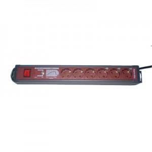 6-fach Steckdosenleiste mit Schalter und Überspannungsschutz