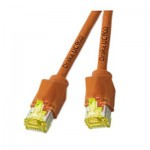 Standard Patchkabel, 2 x RJ45 Stecker, Cat. 6, paarweise geschirmt + Kupfergeflecht, orange, 0,25 m