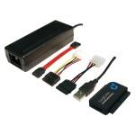 """USB 2.0 an S-ATA und IDE (3,5"""" + 2,5"""") Konverterkabel zum Anschluss von S-ATA und IDE Geräten"""