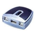 USB Auto Switch, 2-fach, 2 x Typ B Buchse / 1 x Typ A Buchse für zwei PC's an ein USB Endgerät (z.B. Drucker)