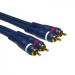 High Quality Audiokabel, 2 x Cinch Stecker / 2 x Cinch Stecker, vergoldete Kontakt