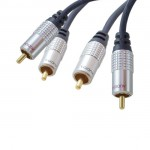 High End Audiokabel, 2 x Cinch Stecker / 2 x Cinch Stecker