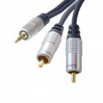 High Quality Audiokabel, 3,5 mm Klinkenstecker / 2 x Cinch Stecker