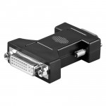 DVI Adapter, 15-pol. HD Sub-D Stecker / DVI 24+5 Buchse
