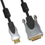 High End HDMI Anschlusskabel, HDMI Stecker an DVI Stecker