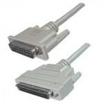 SCSI III Kabel, 68-pol. HP Sub-D Stecker / 25-pol. Sub-D Stecker, mit aktiver Terminierung, 2 m