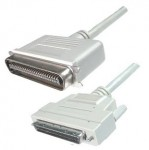 SCSI III Kabel, 68-pol. HP Sub-D Stecker / 50-pol. Centro- nics Stecker, mit aktiver Terminierung, 1 m