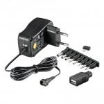 Universalsteckernetzteil, 3 - 12 Volt, 500 mA, mit sieben verschiedenen Adaptersteckern