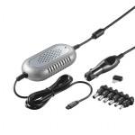 Notebook Autoadapter, bis 6000 mA, Anschluss für Zigarettenanzünder, mit 6 Adaptersteckern