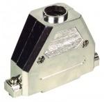 50-pol. Sub-D Haube, Kunststoff metallisiert