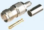 TNC-Buchse für RG 58 Kabel, Crimpversion
