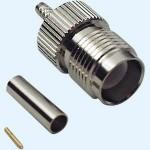 TNC-Reverse Buchse für RG 58 Kabel, Crimpversion